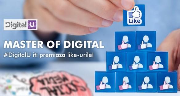 Concurs: #DigitalU iti premiaza like-urile!